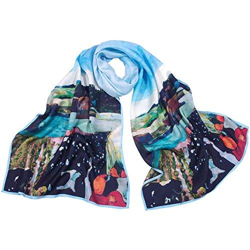 salutto-women-100-silk-scarves-paul-gauguin-golden-harvest-painted-scarf-13
