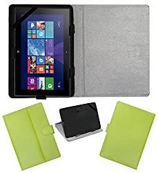 ACM LEATHER FLIP FLAP TABLET HOLDER CARRY CASE STAND COVER FOR NOKIA LUMIA 2520 GREEN