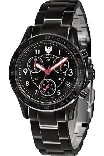 Swiss Eagle Reloj de cuarzo Talon Negro 34  mm