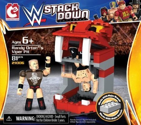 Randy Orton's Viper Pit WWE Stack Down 82 Piece Set - 1
