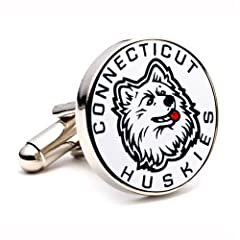 Buy NCAA Connecticut Huskies Cufflinks by Cufflinks