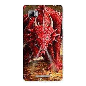 Cute Red Fantastic Dragon Back Case Cover for Lenovo Vibe Z K910