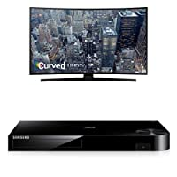 Samsung UN55JU6700 Curved 55-Inch TV with BD-H6500 Blu-ray Player by Samsung