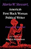 img - for Maria W. Stewart: America's First Black Woman Political Writer : Essays and Speeches (Blacks in the Diaspora) book / textbook / text book