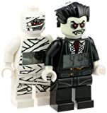 LEGO Kids 9009914 Monster Fighters Lord Vampire and Mummy Minifigure Clocks 2 Pack