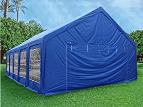 3239x2039 Party Tent Blue - Heavy Duty Wedding Tent Canopy Gazebo Carport By DELTA Canopies