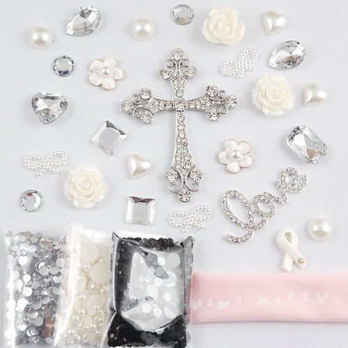 MINI KITTY DIY 3D Bling flower Rhinestone Cross Cell Phone Case Resin Flat back Kawaii Cabochons Deco Kit / Set ,cellphone diy ,merry christmas gift ,xmas for iphone 4 4S ,iphone 5 5c 5G,for iphone 6 iphone 6 plus for samsung note 4 samsung s5 mini s5 i9600 for samsung galaxy s3 i9300 ,for samsung galaxy s4 i9500 for sony/htc/nokia/google etc