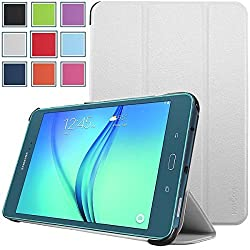 Samsung Galaxy Tab A 8.0 Case - HOTCOOL Ultra Slim Lightweight SmartCover Stand Case For Samsung Galaxy Tab A SM-T350NZBAXAR 8-Inch Tablet(With Smart Cover Auto Wake/Sleep), White