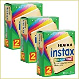 FujiFilm Instax Wide Picture Format Instant Film, 10 Exposures (Pack of 3 Twin Packs)