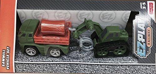 Fisher-Price EZ Play Railway Sawmill Vehicle Set
