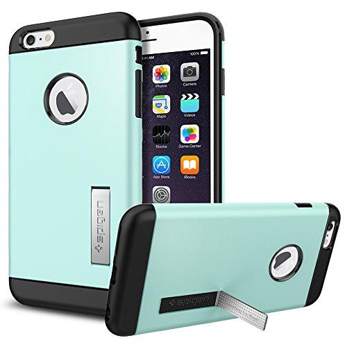iPhone 6 Plus ケース, Spigen® [ スリム+保護力+個性 ] スリム アーマー Apple iPhone (5.5) アイフォン 6 プラス カバー (国内正規品) (ミント SGP10906)