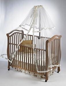 "Crib Netting Store Plain Crib Netting (Ivory) (76""H x 60""W x 40""D)"
