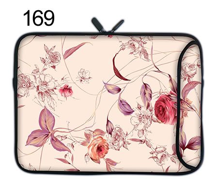 15.6 inch 15 inch Compact Neoprene Laptop Sleeve Printed with beautiful patterns with Double Zipper Double Side Pocket Water Resistant