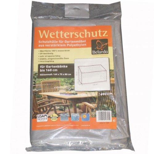BELARDO Schutzhülle für Gartenbänke bis 160 cm Schutzhaube Hülle Haube Gartenbank grau NEU günstig