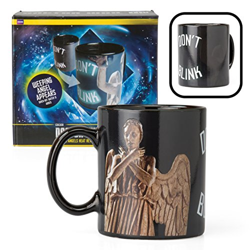 Doctor Who Mug - Weeping Angel Coffee Cup - Don't Blink Design Changes with Heat