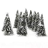 【ノーブランド品】10本セット 杉木 雪 樹木  モデルツリー 情景コレクションザ・鉄道模型・ジオラマ・建築模型・電車模型に 高さ8cm