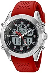 Quiksilver Men's QS/1017RDSV THE FIFTY50 Digital Chronograph Red Silicone Strap Watch