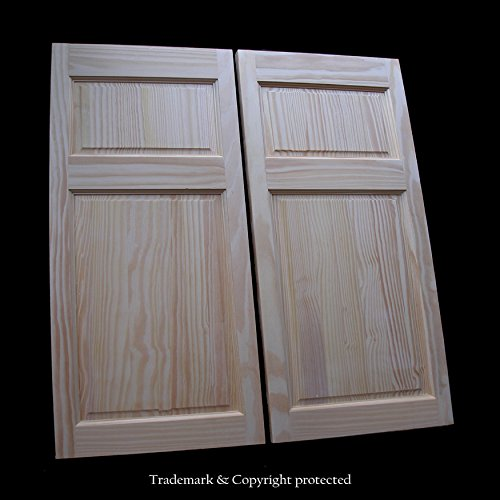 Cafe Doors by Cafe Doors Emporium | Pine Raised 4 Paneled | Premade for 36