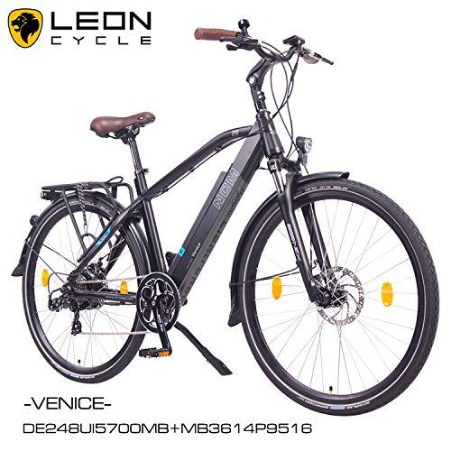 NCM-Venice-201628-Zoll-Elektrofahrrad-HerrenDamen-Unisex-PedelecE-BikeTrekking-Rad-36V-250W-14Ah-Lithium-Ionen-Akku-mit-PANASONIC-Zellen-matt-schwarz