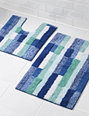 Clerkenwell Striped Bath & Pedestal Mats