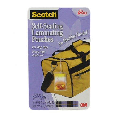 Scotch LS8535G - Self-Sealing Laminating Sheets, 12.5 mil, 2