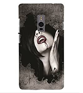 ColourCraft Dracula Girl Design Back Case Cover for OnePlus Two