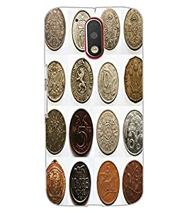 ColourCraft Antique Coins Design Back Case Cover for MOTOROLA MOTO G4 PLUS