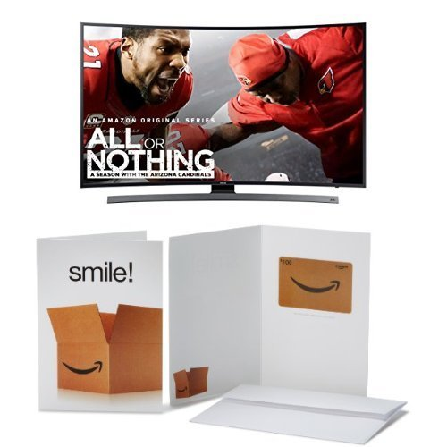 Samsung Curved 55-Inch 4K Ultra HD Smart LED TV with $100 Amazon Gift Card