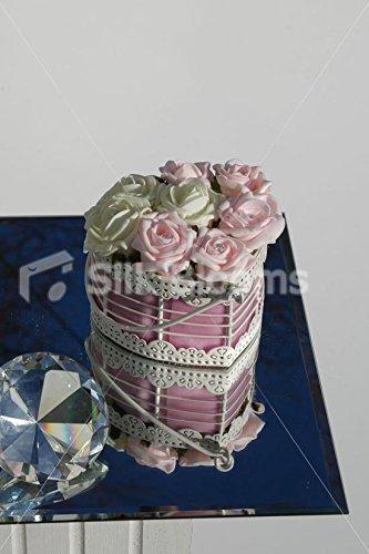 &Ivoire Rose Rose en forme de cœur pour Table de mariage