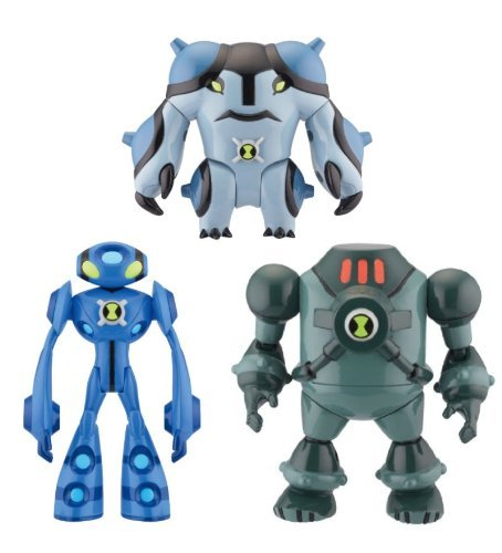 Picture of Bandai Ben 10 Ultimate Alien 4 Inch Set of 3 Action Figure Ultimate Echo Echo, Ultimate Cannonbolt NRG (B004FDV5CK) (Ben 10 Action Figures)