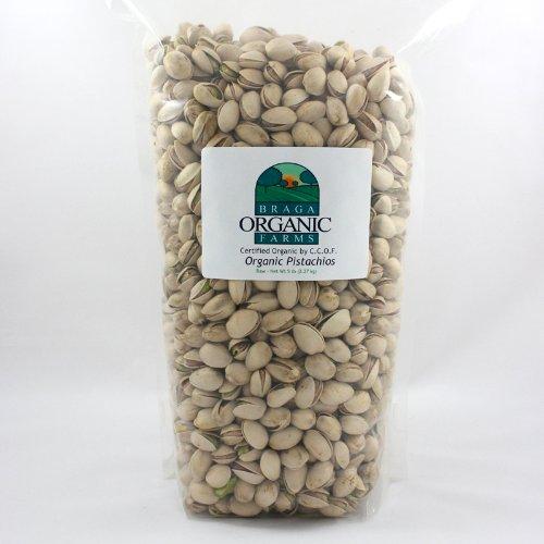 Braga Organic Farms Organic Raw Inshell Pistachios 5 lb bag