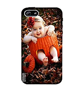 Omnam Very Cute Girl Sitting In Fruit And Smiling Desinger Back Cover Case For Apple iPhone 5/5s