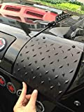 MOEBULB Cowl Body Armor Powder Coated Finish Outer Cowling Cover for 2007-2017 Jeep Wrangler JK Rubicon Sahara Sport X & Unlimited 2/4 door