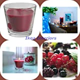 IKEA TINDRA RED BERRIES GLASS JAR CANDLE - 30 HOURS OF BURNING