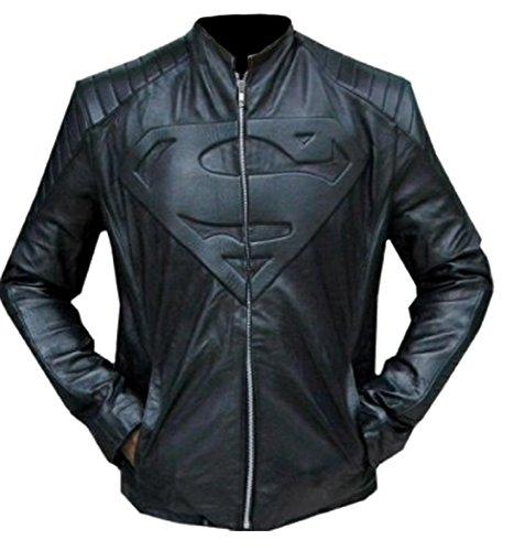 classyak da uomo Fashion Super giacca in pelle nera Sheep Black Large