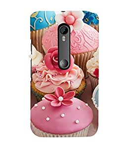 Tempting Cup Cakes 3D Hard Polycarbonate Designer Back Case Cover for Moto G Turbo Edition :: Moto G Turbo (Virat Kohli Edition)