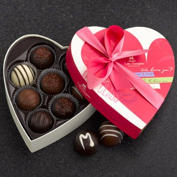 Traditional Valentine Heart Truffles