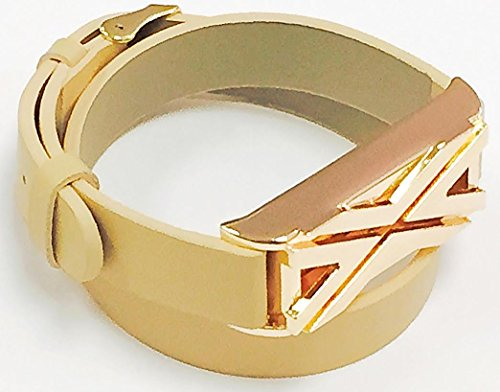 BSI-Long-Beige-Leather-Straps-Band-With-Metal-Buckle-Clasp-And-Rose-Gold-Color-X-Design-Metal-Housing-For-Fitbit-Flex-Activity-Tracker