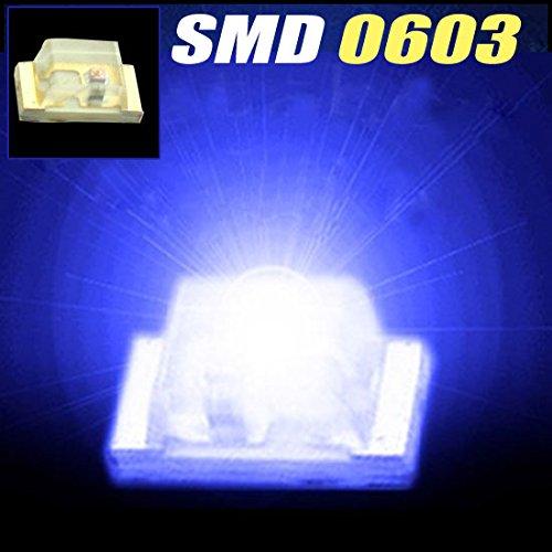 100Pcs X Super Bright 0603 Blue Smd Smt Led Blue 0603 Smd/Smt Led Light Blue