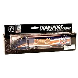 New York Islanders Fleers/Upper Deck NHL Peterbilt Semi Truck/Tractor Trailer 1/80 Die Cast Model Limited Edition Collectible