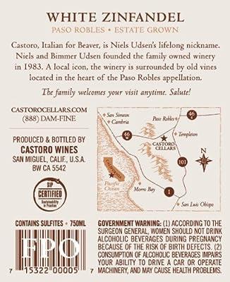 2012 Castoro Cellars Paso Robles Estate White Zinfandel Wine 750ml