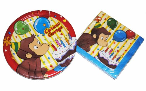 Curious George Party Plates and Napkins