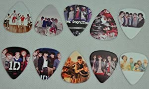 Lots of 20 Pieces 1 D One Direction Print Medium Size 0.71mm Guitar Picks Plectrum from Guitar King