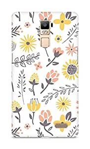 Amez designer printed 3d premium high quality back case cover for Oppo R7 Plus (Field of flowers)