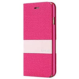 iPhone 6S Case, Aroko [Top-Notch Series] Premium Linen Wallet Case Protective Cover for Apple iPhone 6/6S Case (6/6S 4.7inch, HotPink)