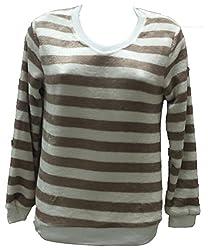 Dovekie Women's Stripes Furr Top