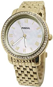 Women Watch Fossil ES3113 Stella Gold Tone Stainless Steel Case and Bracelet Mot