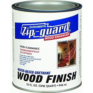 Zip Guard Urethane Wood Finish Water Based Interior Satin Clear 1 Qt Household Wood Stains