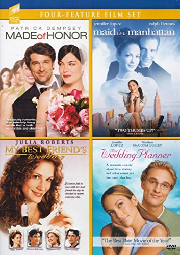 (Four-Feature Film Set) Made of Honor / Maid in Manhattan / My Best Friend's Wedding / The Wedding Planner