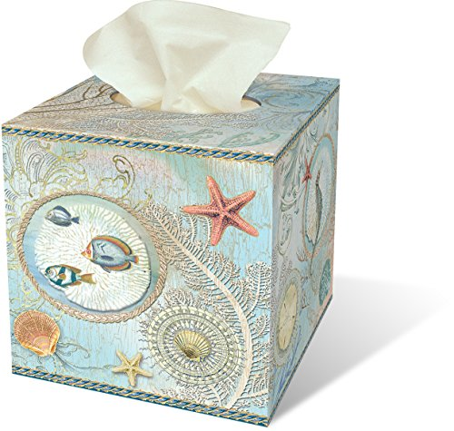 Seascape Facial Tissue Box Home Garden Bathroom Accessories Holders
